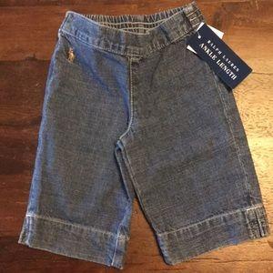 Ralph Lauren ankle length girls jeans